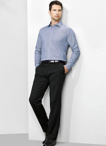 70112S Mens Flat Front Pant Stout
